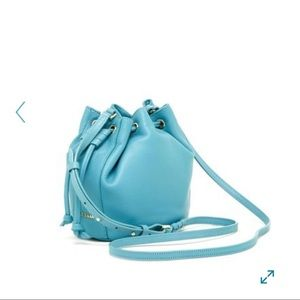 Cole Haan Mini Leather Drawstring Bucket Bag